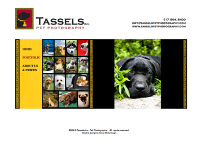 Pet Photographer's Website
